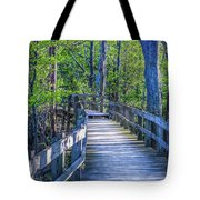 Boardwalk Going Into The Woods Tote Bag