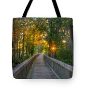 Boardwalk Sunset Tote Bag