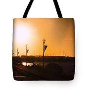 Boardwalk Sunset Tote Bag