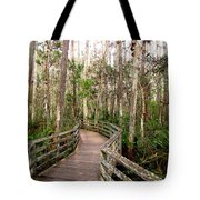 Boardwalk Through Corkscrew Swamp Tote Bag