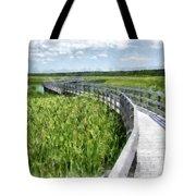 Boardwalk Through The Dunes Prince Edward Island Tote Bag