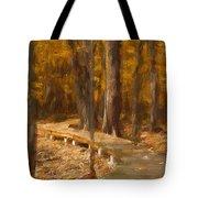 Boardwalk Through The Woods Tote Bag