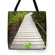 Boardwalk To Backguard Falls In British Columbia Tote Bag