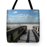 Boardwalk To The Beach Tote Bag