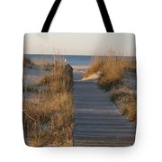 Boardwalk To The Beach Tote Bag
