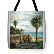 Boardwalk With Lifeguard Psalm 143 Tote Bag