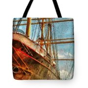 Boat - Ny - South Street Seaport - Peking Tote Bag by Mike Savad