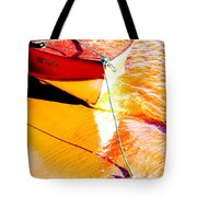 Boat Abstract Tote Bag