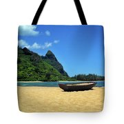 Boat And Bali Hai Tote Bag