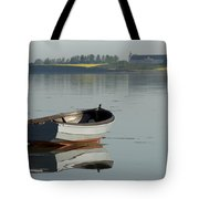 Boat And Reflection Tote Bag