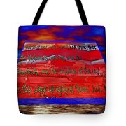 Boat As Art With Text Tote Bag