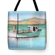 Boat At China Camp State Park Tote Bag