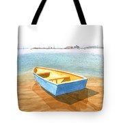 Boat At Low Tide Tote Bag