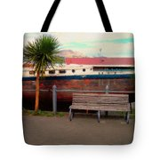 Boat Bench Tree Tote Bag