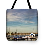 Boat Dock On The Bay Tote Bag