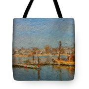 Boat Harbor Province Town Tote Bag