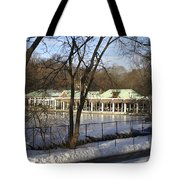 Boat House Central Park Ny Tote Bag