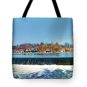 Boat House Row From Fairmount Dam Tote Bag