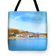 Boat House Row From West River Drive Tote Bag
