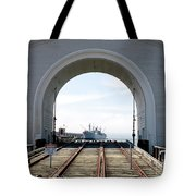 Boat In The Arch Tote Bag