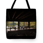 Boat In The Distance Tote Bag
