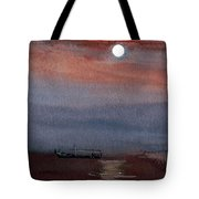 Boat In The Moon Tote Bag