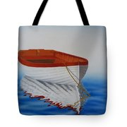 Boat In The Sea Tote Bag