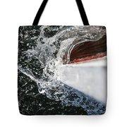 Boat In Water Tote Bag
