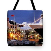 Boat Is In On Front Street Tote Bag