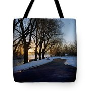 Boat Launch In Winter Tote Bag