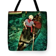 Boat Of Venice Tote Bag