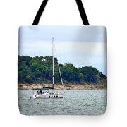 Boat On A Lake Tote Bag