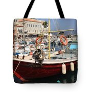 Boat On Hydra Tote Bag