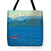 Boat On Llanquihue Lake From Puerto Varas-chile Tote Bag