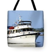 Boat On Pellicer Creek Tote Bag