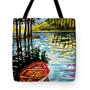 Boat On The Bayou Tote Bag