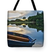 Boat On The Shore Of A Lake  Tote Bag
