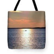 Boat Passing By Tote Bag