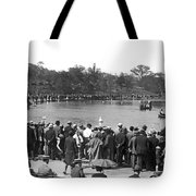 Boat Races In Central Park Tote Bag