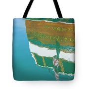 Boat Reflection In Water  Tote Bag