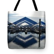 Boat Reflection On Lake Coeur D'alene Tote Bag