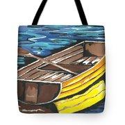 Boat Reflections Tote Bag