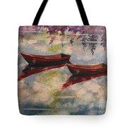 Boat Reflections Watercolor Painting Tote Bag