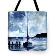 Boat Scene - Blue Sky Tote Bag