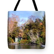 Boat Shed On The Waikato River Tote Bag