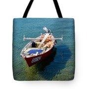 Boat Small Rovinj Croatia Tote Bag