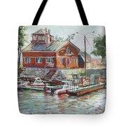 Boat Station On Krestovsky Island In St.-petersburg Tote Bag