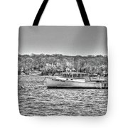 Lobster Boat Mount Sinai Harbor Li.ny Tote Bag