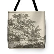 Boat With Boathouse Tote Bag