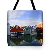 Boathouse Reflections Tote Bag